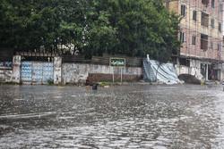بارش شدید باران , آبگرفتگی معابر در آستارا