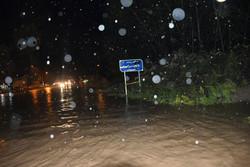 آبگرفتگی معابر شهر ایلام بر اثر شدت بارش باران