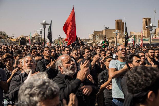 تجمع باشکوه مردم دارالعباده یزد به یاد سردار سلیمانی