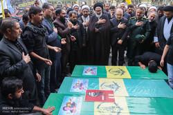 قم میں مدافع حرم تین شہداء کی تشییع جنازہ
