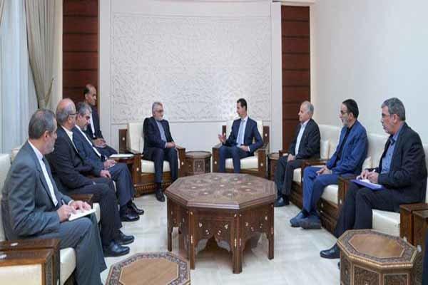 Burucerdi, Şam'da Beşar Esad'la görüştü