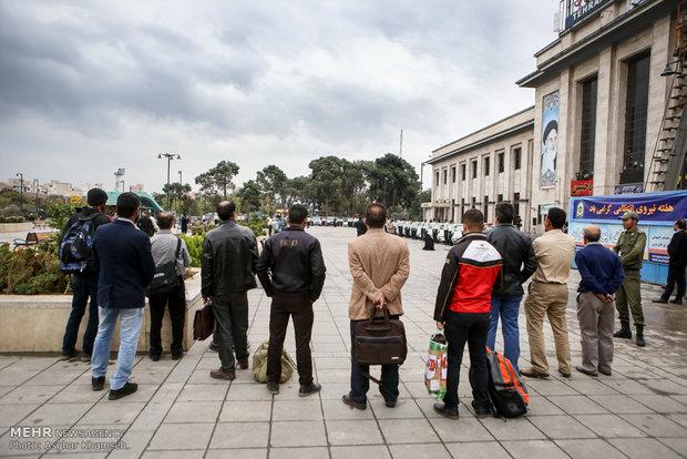رزمایش خودرویی پلیس راه آهن کشور