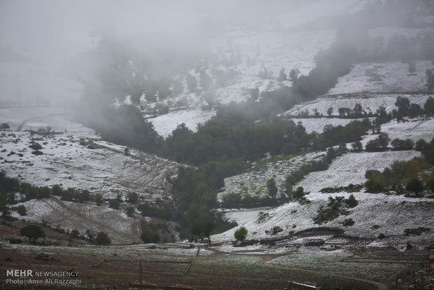 İran'daki kar yağışından manzaralar