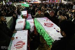 مراسم استقبال و تشییع پیکر ۱۱۹ شهید تازه تفحص شده هشت سال دفاع مقدس در اهواز