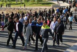 همایش پیاده روی همگانی به مناسبت هفته بسیج در تبریز برگزار شد