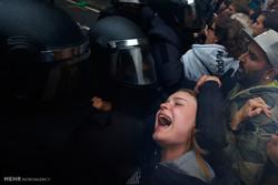 شهڕی پۆلیسی ئێسپانیا و جیایی خوازانی کاتالۆنیا