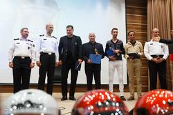 From right to left, Arash Borhani (2nd R), Reza Enayati, Farshad Pious, and Ali Daei