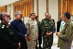دیدارفرماندهکل ارتش با فرماندهان نظامی وانتظامی سیستان وبلوچستان
