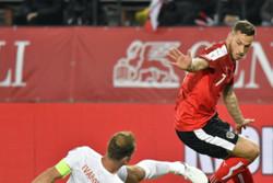 دیدار تیم های ملی فوتبال اتریش و صربستان