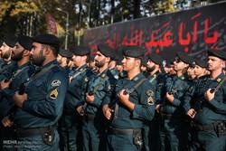 مراسم مشترک نیروهای نظامی و انتظامی در شادگان برگزار شد