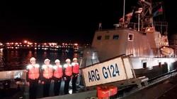 Azerbaijan navy fleet berths at Iran's Bandar-e Anzali