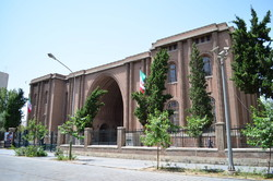 An exterior view of the National Museum of Iran in downtown Tehran