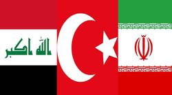پرجم ایران ترکیه عراق