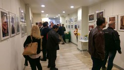 """People visit the exhibition """"Iran, Ancient Civilization"""" at the Hellenic Photographic Society in Athens, Greece on October 7, 2017."""