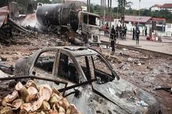 ۷ کشته و ۶۸ زخمی در انفجار مهیب یک تانکر گاز در غنا