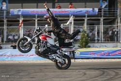 İran polisinin motor yarışı turnuvasından kareler