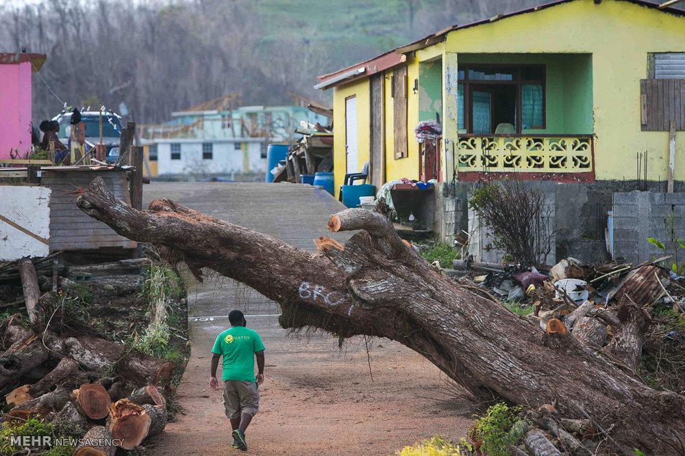 وضعیت پورتوریکو و جزایر کارائیب بعد از طوفان ماریا
