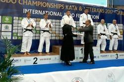 کاتاروهای قمی در مسابقات جهانی جودو مدال نقره گرفتند