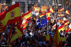 تظاهرات علیه جدایی کاتالونیا در اسپانیا