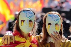 خۆپیشاندان دژی سەربەخۆیی کاتالۆنیا لە ئێسپانیا