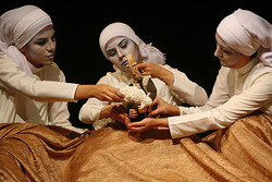 "Members of Zahra Sabri's Yase Tamam troupe perform ""Count to One""."