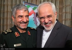 Zarif and Jafari smile