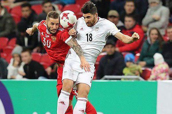 دیدار تیم ملی فوتبال ایران و روسیه