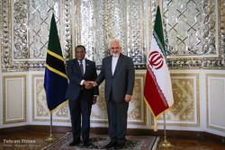 Zarif receives Tanzanian counterpart in Tehran
