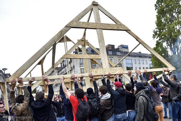 اعتراض کارمندان دولت علیه سیاست های دولت فرانسه