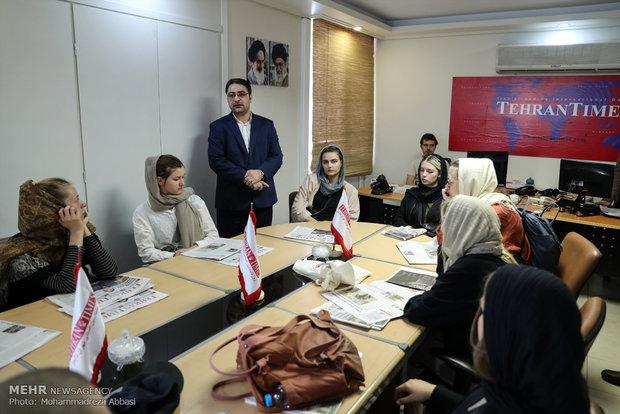 طلاب إعلام من جامعات دنماركية في زيارة لوكالة مهر للأنباء