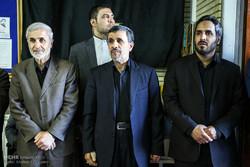 Ahmedinejad'ın vefat eden kardeşinin taziye merasiminden kareler