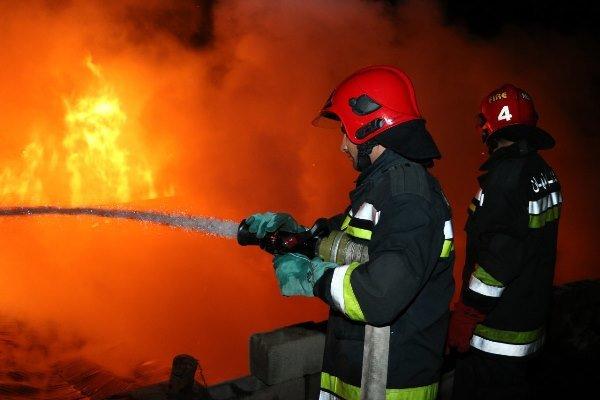 آتش سوزی بازار ریسمان