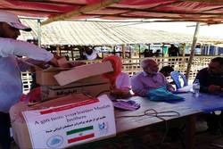 مسلمو الروهينغا يتلقون الوجبة الأولى من مساعدات الشعب الإيراني