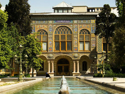 A view of Golestan Palace in downtown Tehran