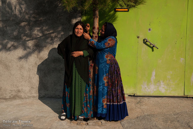 Daily life of women in Margoon, southwest Iran
