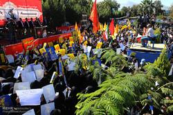 مظاهرات تندد بالمواقف الأمريكية تجاه إيران / صور