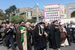 عزاداری پیاده علما و مردم ورامین به مناسبت شهادت امام سجاد(ع)