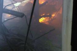 آتش سوزی در سوله واوان