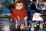توزیع روسری نذری بین دختران خردسال/اینجا حجاب خیرات می کنند
