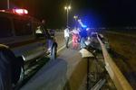 تصادف اتوبوس و تریلی در جاده کرج/۱۱نفر مصدوم شدند