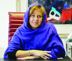 Negar Gerami,WFP Representative and Country Director in Iran/ Photo by Majid Hamed Haqdoust, Tehran Times