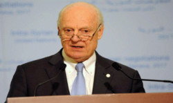 De Mistura visits Moscow to discuss Syrian-Syrian talks of Geneva