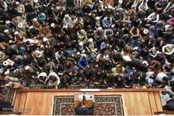 تجمع طلاب حوزه های علمیه خراسان در اعتراض به سخنان ترامپ