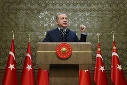 اردوغان در کاخ ریاست جمهوری ترکیه