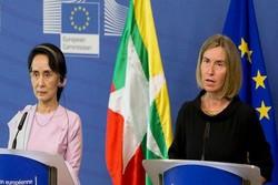 «موگرینی» خواستار پایان خشونتها علیه مسلمانان در میانمار شد