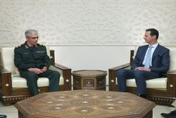 Army chief Bagheri meets with Syria's Assad