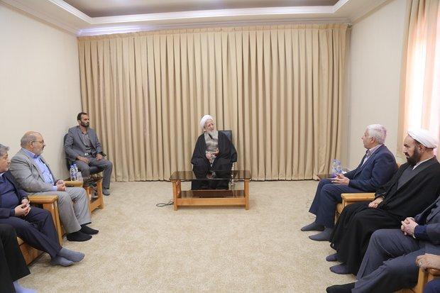 دیدار رئیس دانشگاه آزاد با مراجع تقلید