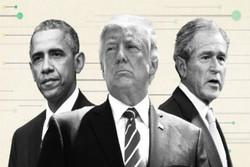 اوباما بوش و ترامپ