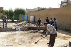 آماده سازی موکب علی بن موسی الرضا گلستان