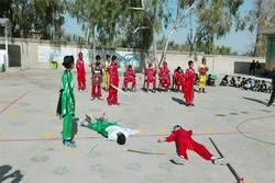 رقابت گروه های تعزیه دانش آموزی در سومین سوگواره عاشورایی